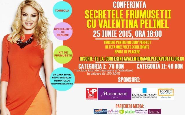 Conferinta Secretele Frumusetii cu Valentina Pelinel