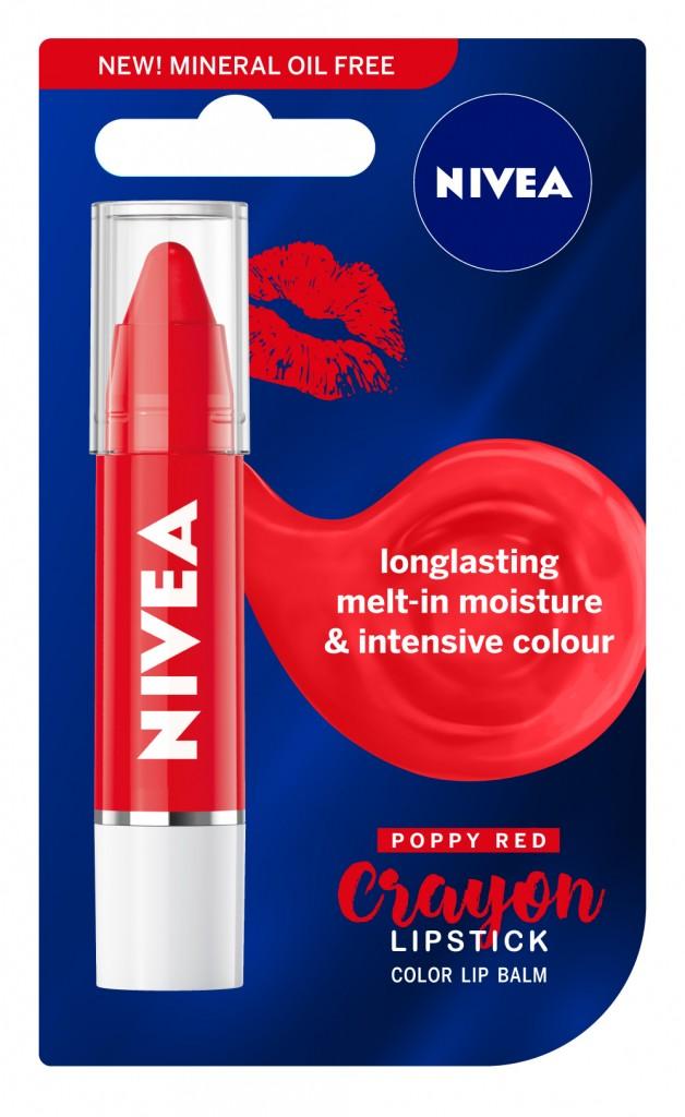 NIVEA Lipstick Crayon Poppy Red