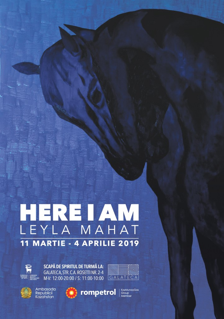 Leyla Mahat - HERE I AM poster RO
