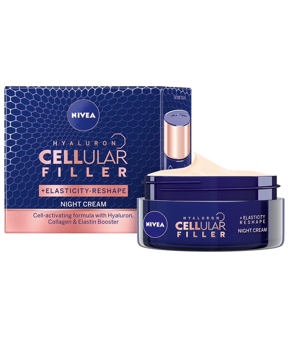 Crema de noapte_NIVEA HYALURON CELLular FILLER + Elasticity Reshape