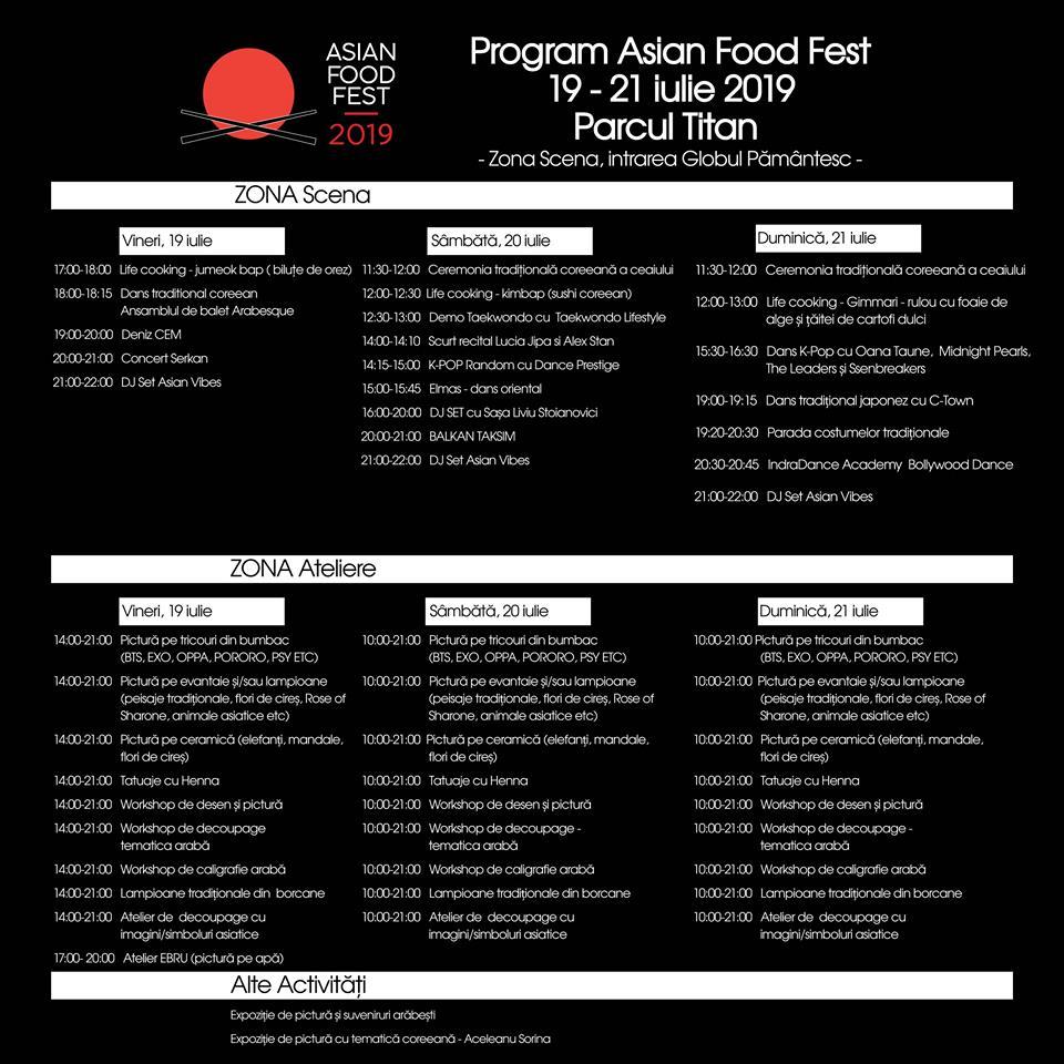 program Asian Food Fest