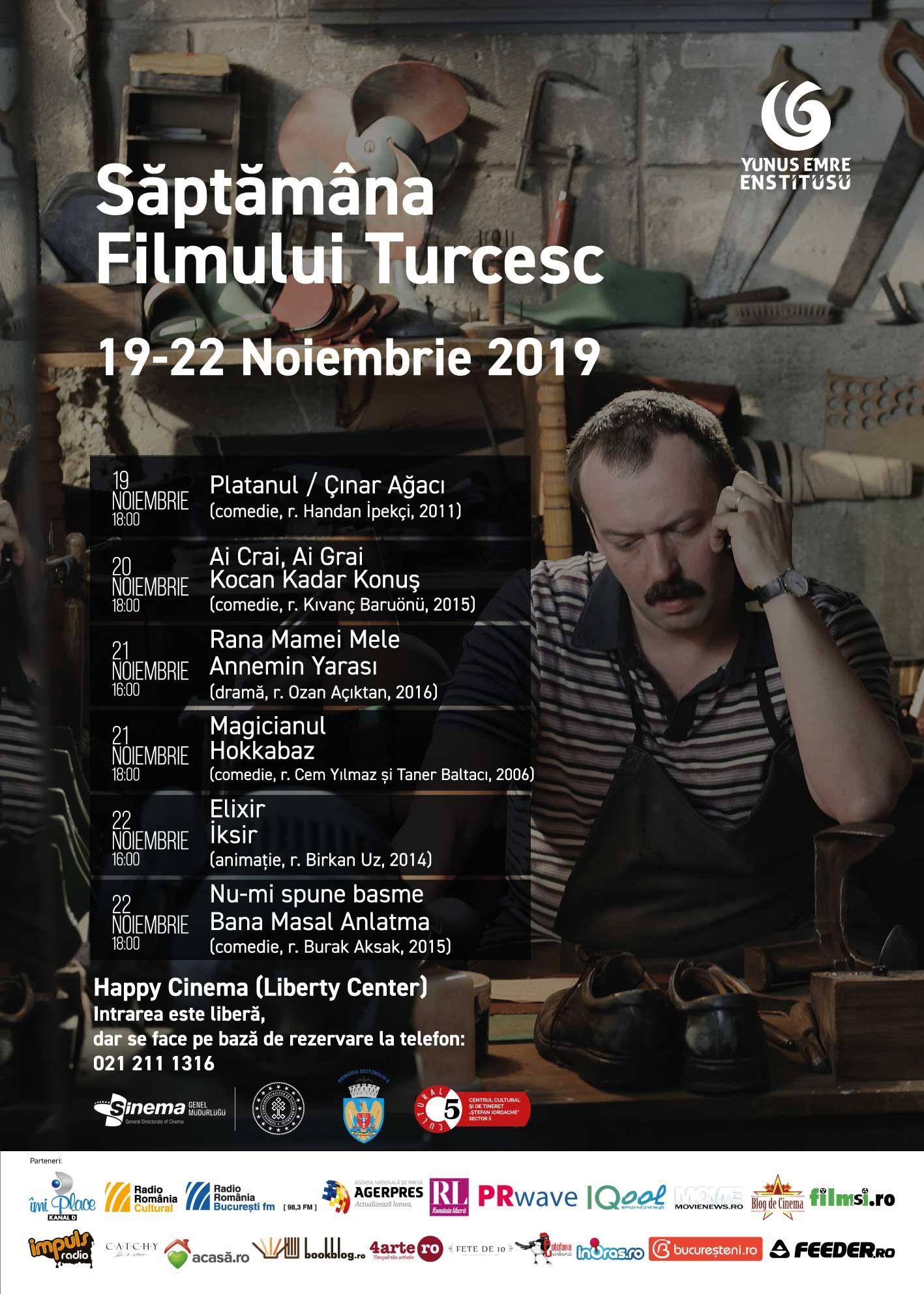 Săptămâna Filmului Turcesc_program